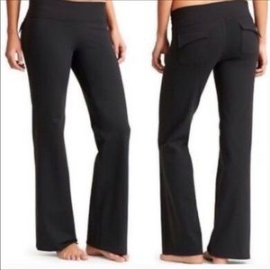 Athleta Black Fusion Yoga Wide Leg Pants XS